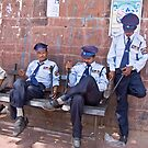Relaxing Policemen by Sasha Mihalova