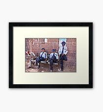 Relaxing Policemen Framed Print