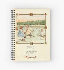 Rose Buds Virginia Gerson 1885 0023 Croquet Spiral Notebook
