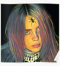 Billie Eilish Spider Crown Painting Poster