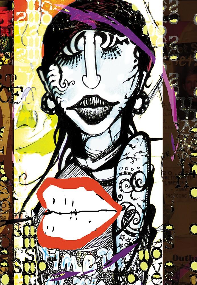 Tattoo Lady by robertemerald