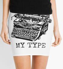 Typewriter - You're Not My Type Mini Skirt