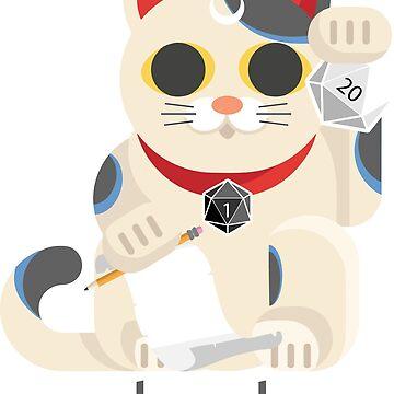 招き猫 (Lucky Cat) - Nat-Nyan Roll 20 by 3DApparel