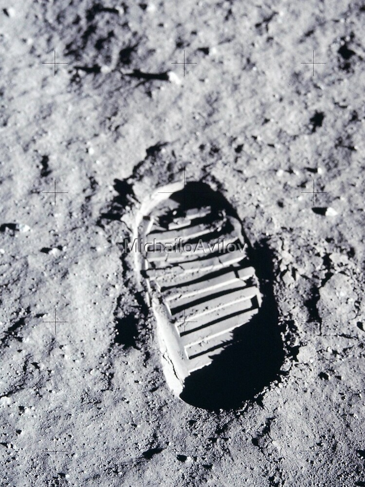 Footstep on the Moon surface by MichailoAvilov