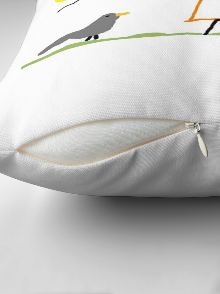 Alternate view of Jenny Quips:  Hoorah! Throw Pillow