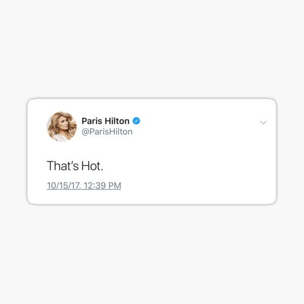 paris hilton tweet Sticker