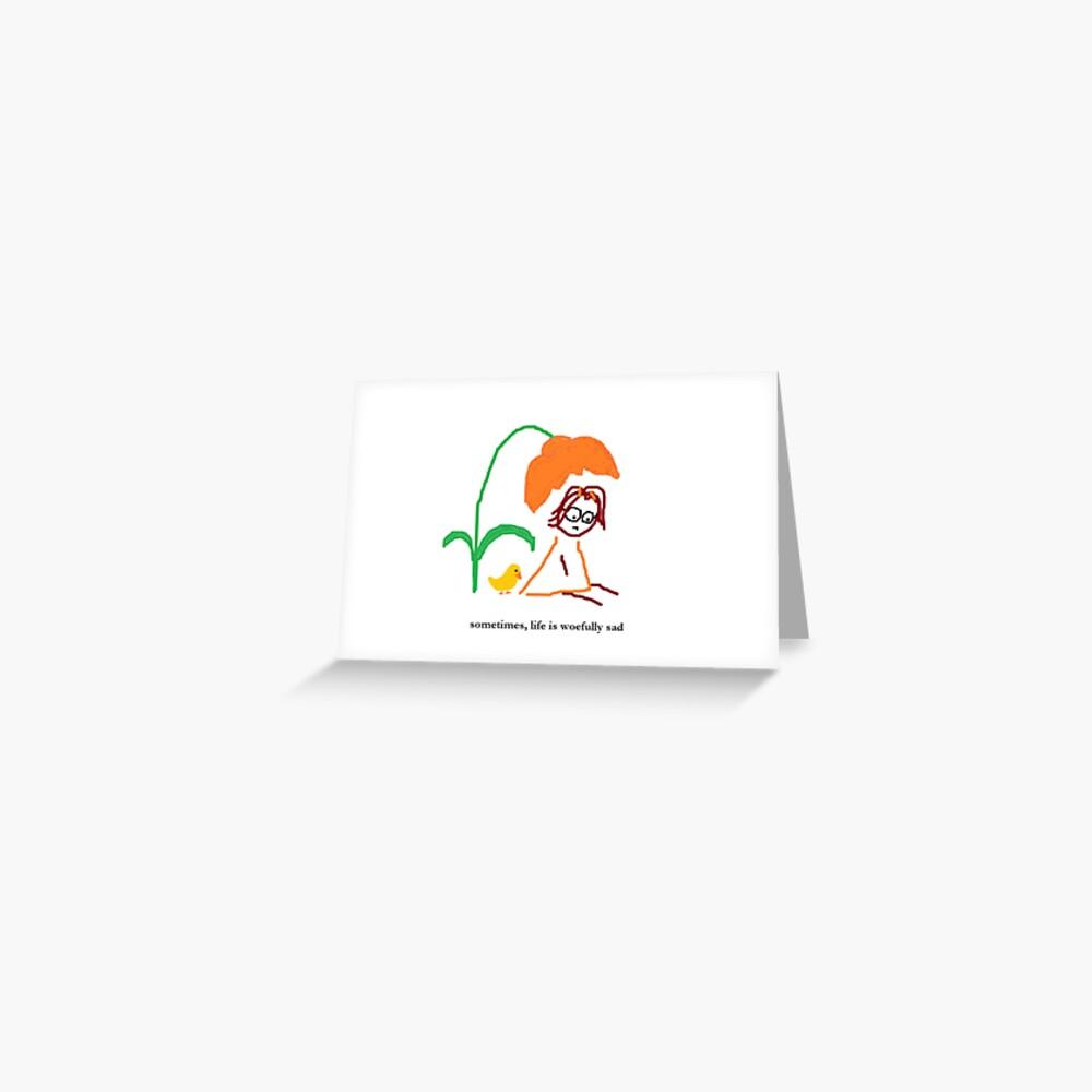 Jenny Quips:  Woefully Sad Greeting Card