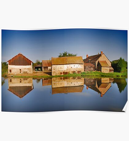 Reflected Farm Poster