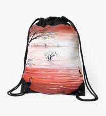 Crimson Skies Drawstring Bag