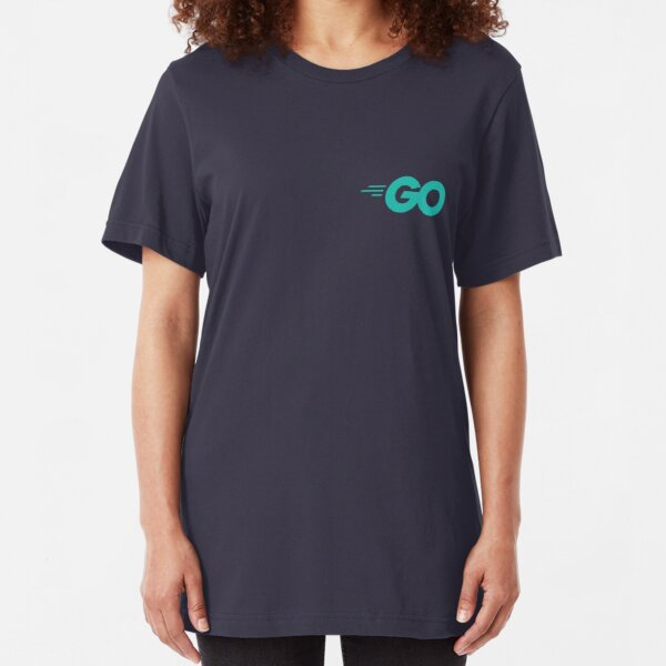 Go - Golang (Aqua) Slim Fit T-Shirt