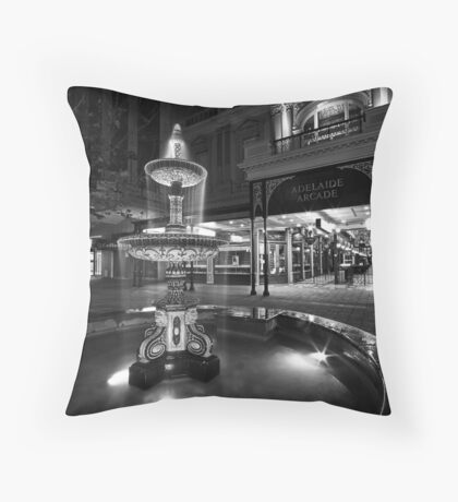 Rundle Mall Fountain Throw Pillow