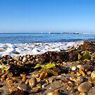 Incoming Tide At Church Beach - Lyme Regis by Susie Peek