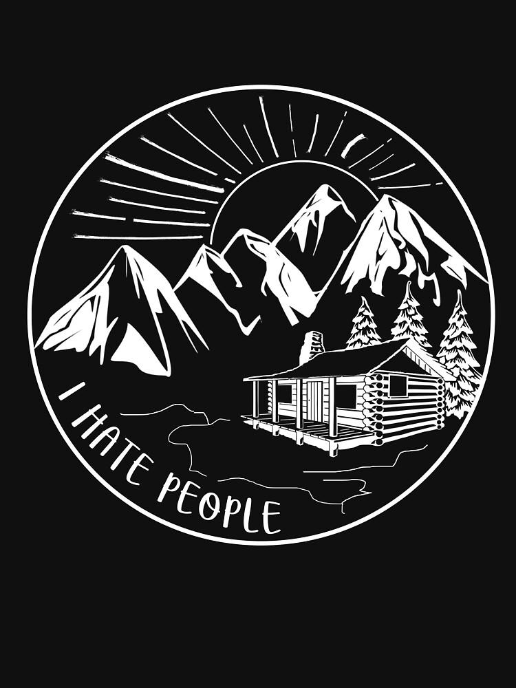 I Hate People Funny Hiking Design by melindad26