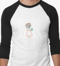 Jenny Quips:  Toothpaste! Men's Baseball ¾ T-Shirt