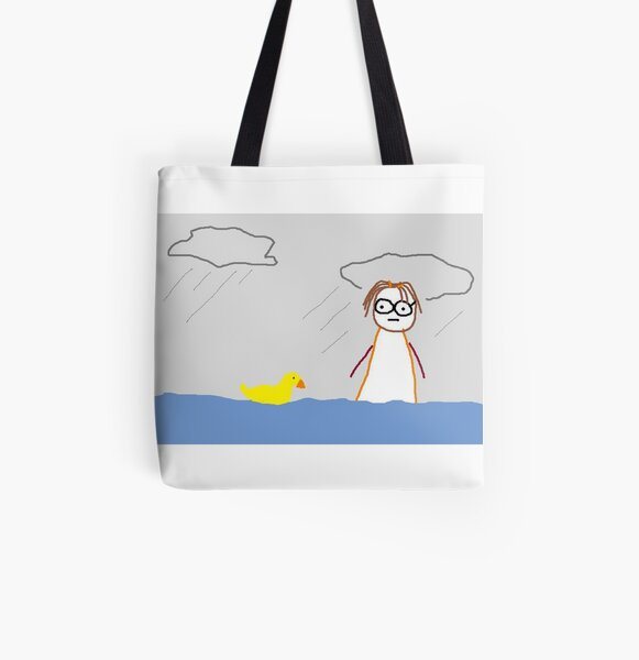 Jenny Quips:  It Rained for 40 days All Over Print Tote Bag