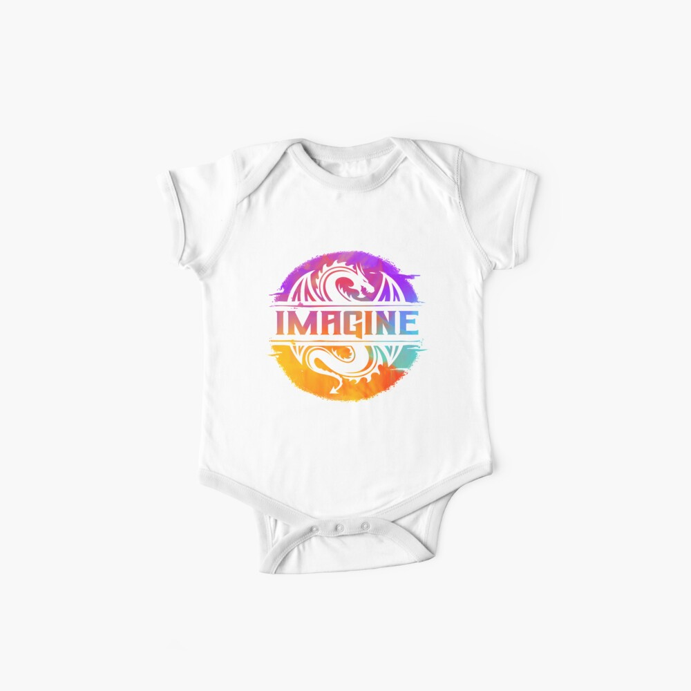 IMAGINE Colorful Watercolour Graphic Dragon  Baby One-Piece