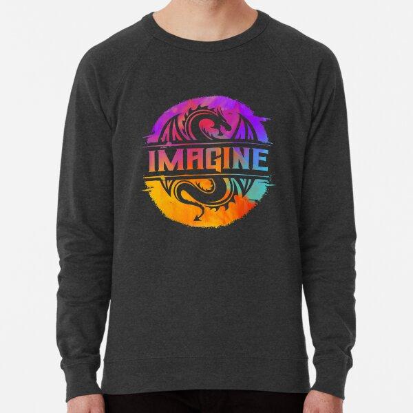 IMAGINE Colorful Watercolour Graphic Dragon  Lightweight Sweatshirt
