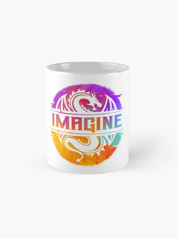 Alternate view of IMAGINE Colorful Watercolour Graphic Dragon  Mug