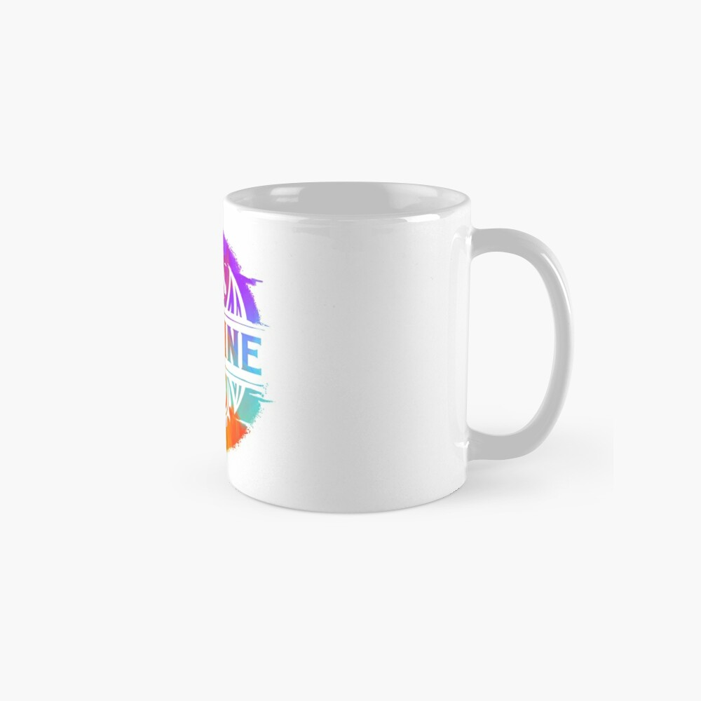 IMAGINE Colorful Watercolour Graphic Dragon  Mug