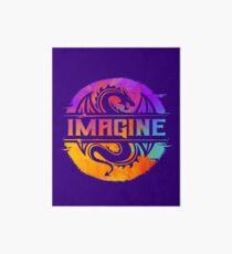 Lámina rígida IMAGINE el dragón gráfico colorido de la acuarela