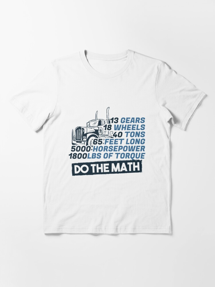 Alternative Ansicht von Truck Facts Gears Wheels Tons Horsepower - Funny Trucker Gift Essential T-Shirt