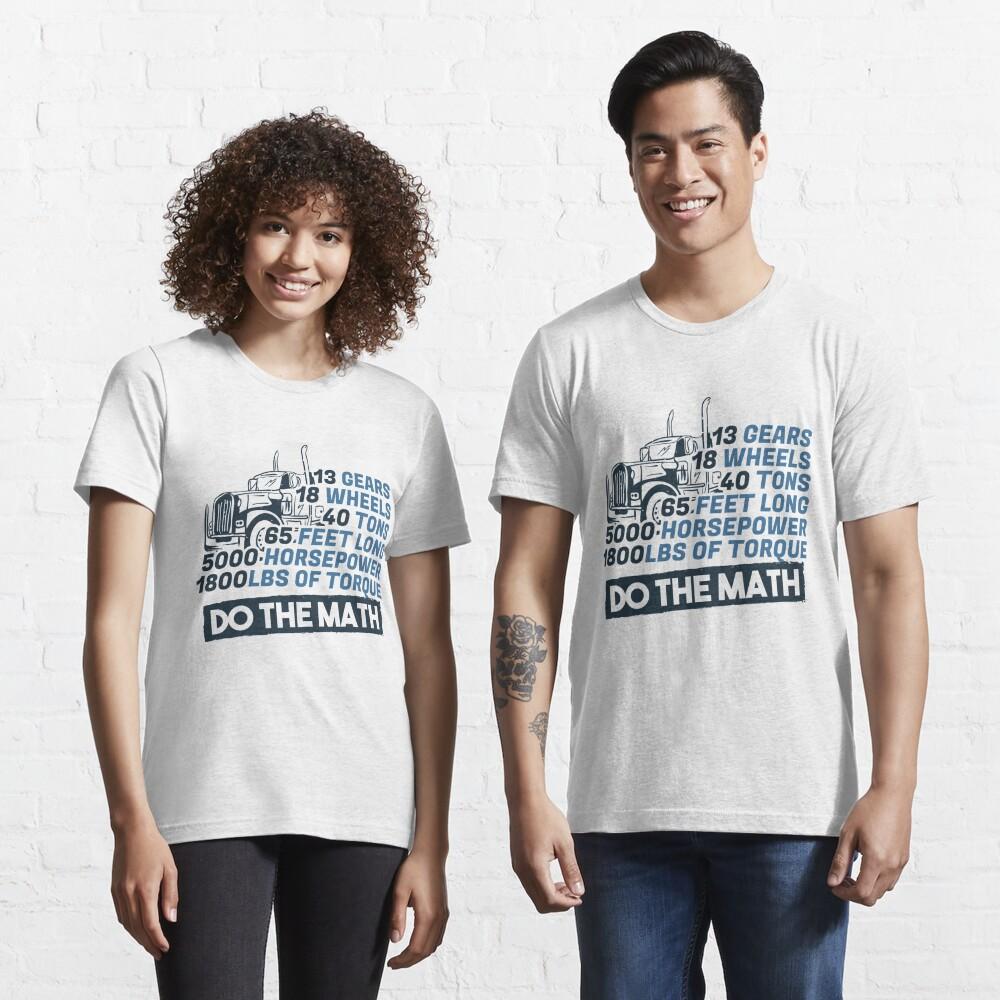 Truck Facts Gears Wheels Tons Horsepower - Funny Trucker Gift Essential T-Shirt