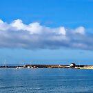 Clouds Over The Harbour - Lyme Regis by Susie Peek