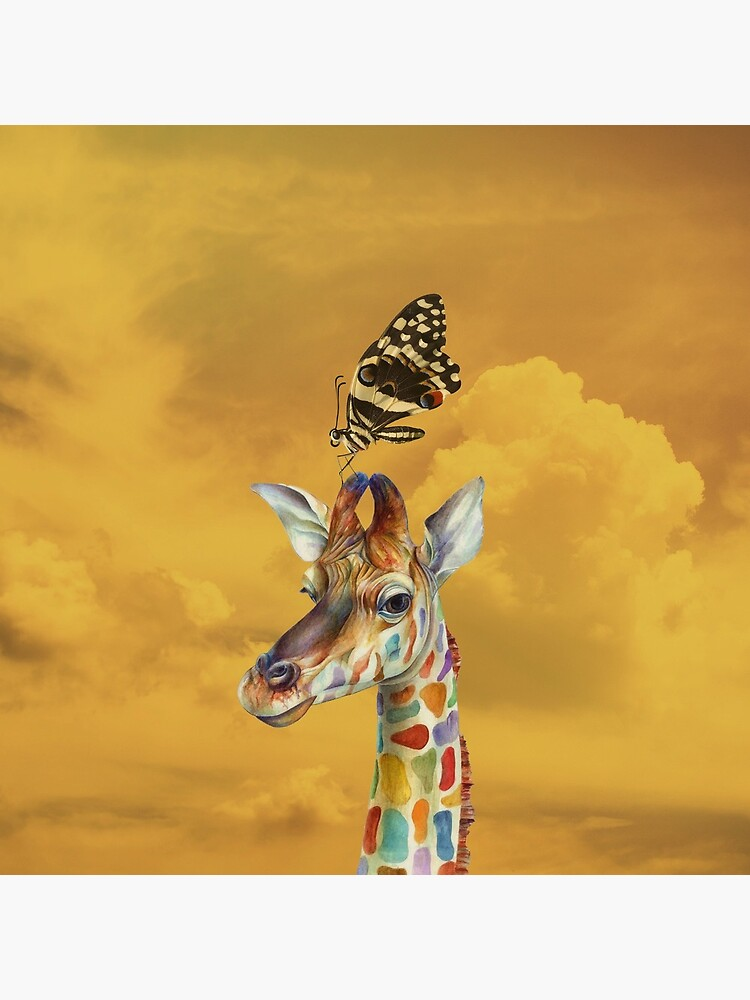 Giraffe and Butterfly by Helt-Sort