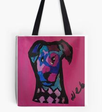 Starie Eyed Dog Print Tote Bag