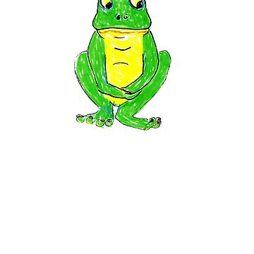green frog smaller by OutlawArt