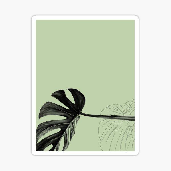 Monstera Green Sticker