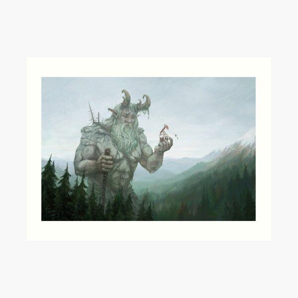 Le Géant et l'Insecte Impression artistique