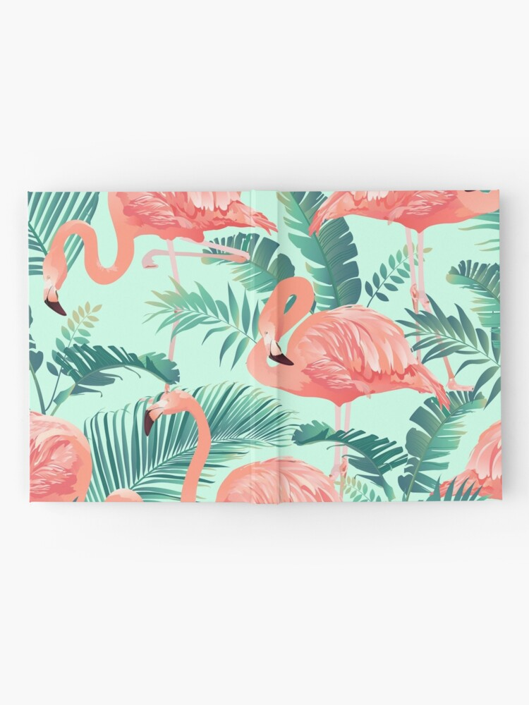 Alternate view of Flamingo Bird Tropical Palm Pattern Hardcover Journal