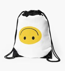 Fake Happy Drawstring Bag