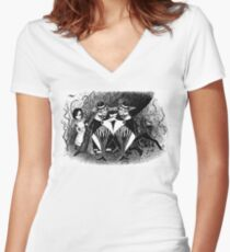 Tweedledum and eedeldeewT Women's Fitted V-Neck T-Shirt