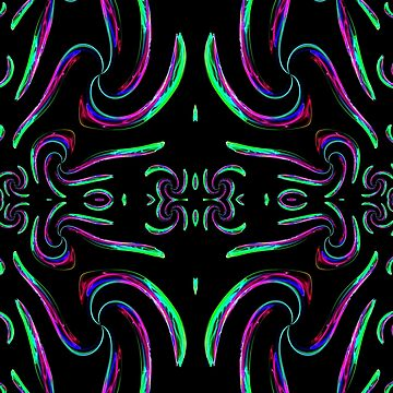 A Purple & Green Abstract Pattern created in chaoscope & gimp by ZipaC