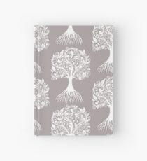 White Tree with Beautiful Leafs - Art&Deco By Natasha Hardcover Journal