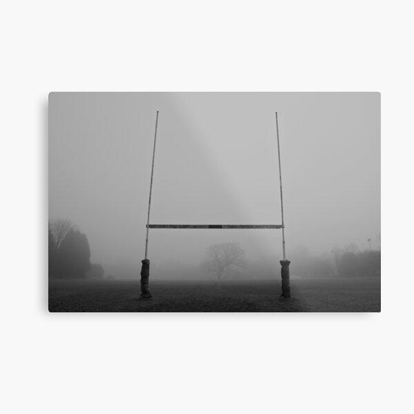 Rugby Goals Metal Print