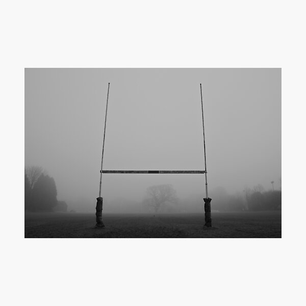 Rugby Goals Photographic Print