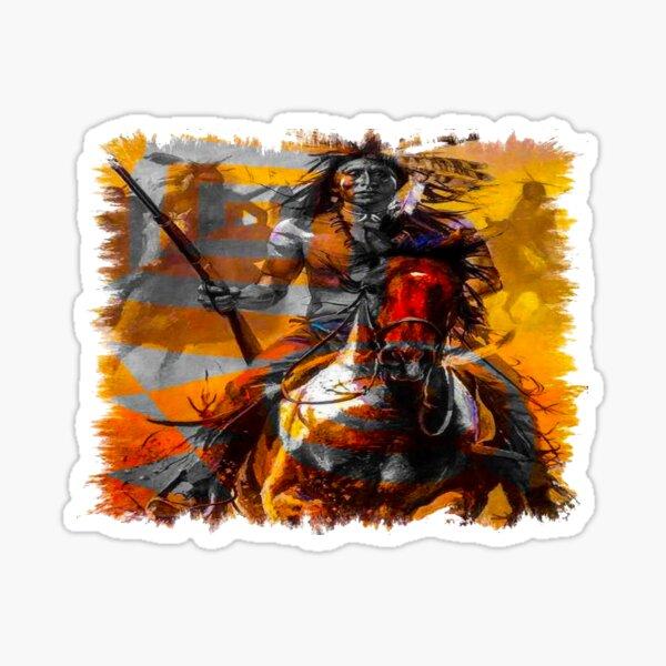 fwc 0637 native american Sticker