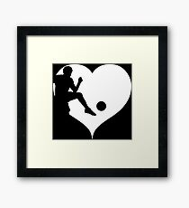 Soccer Soccer Soccer Player Framed Print
