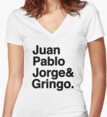 El Fab Cuatro Women's Fitted V-Neck T-Shirt