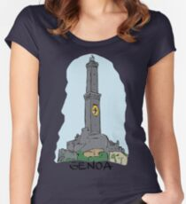 Genoa city in Italy Women's Fitted Scoop T-Shirt