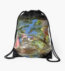 Leafs Manipulation Drawstring Bag