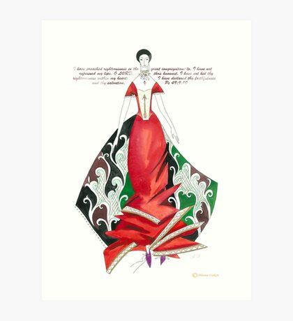 RED DRESS! Art Print
