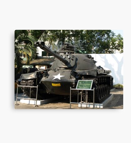 M.48 A3 Tank (US) in Military Museum, Saigon  Canvas Print