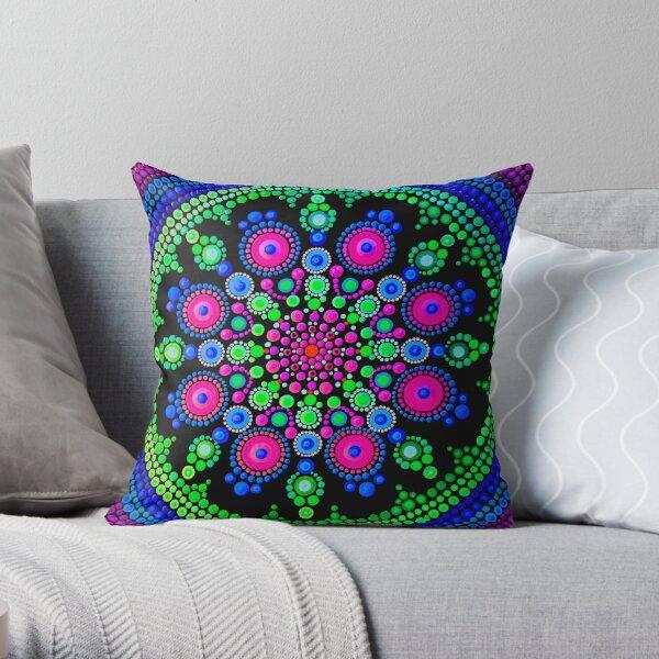 Little Dot Mandala - Art&Deco By Natasha Throw Pillow
