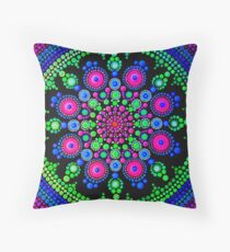 Little Dot Mandala - Art&Deco By Natasha Throw Pillow