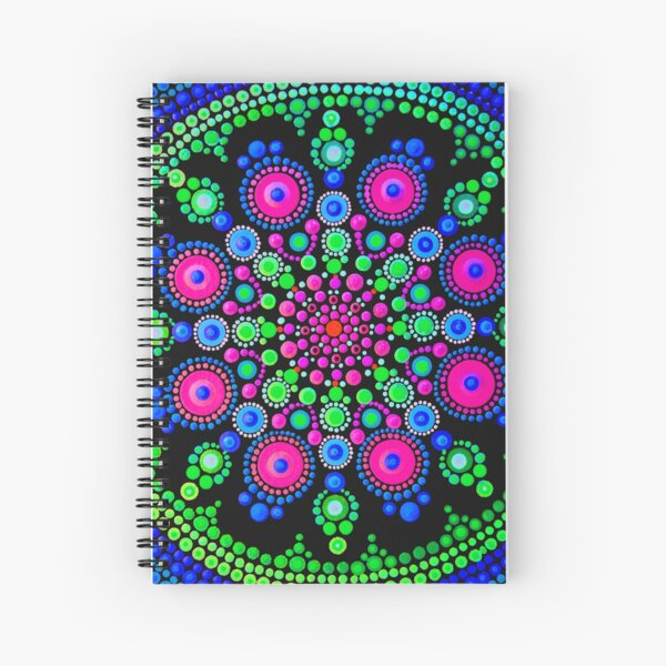 Little Dot Mandala - Art&Deco By Natasha Spiral Notebook