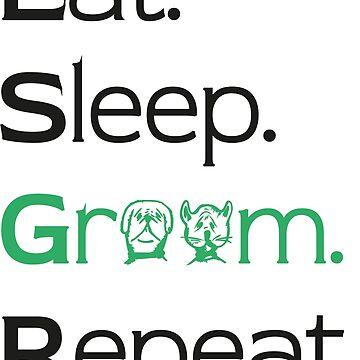 Eat Sleep Groom Repeat Design black / green by jonres